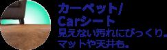 カーペット・Carシート洗浄